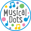 Musical-dots-logo-white-round-blue-border
